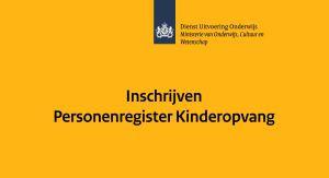 Inschrijven personenregister kinderopvang